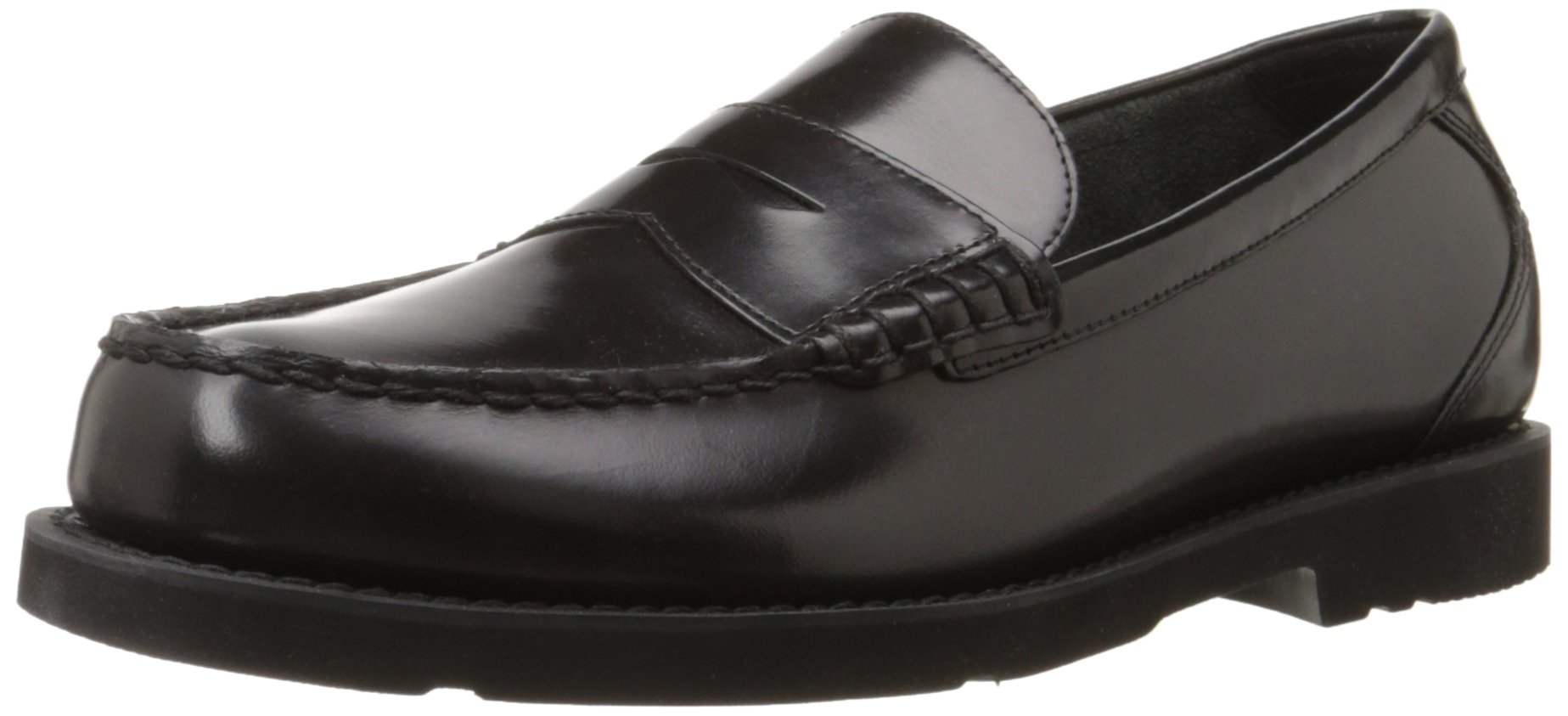 Rockport Men's Shakespeare Circle Penny Loafer,Black Brush ,13 XW US