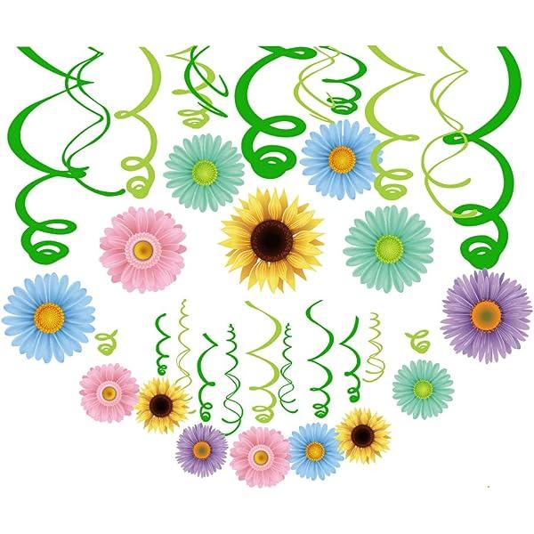 Amazon Com Cc Home Spring Summer Sunflower Party Decoration