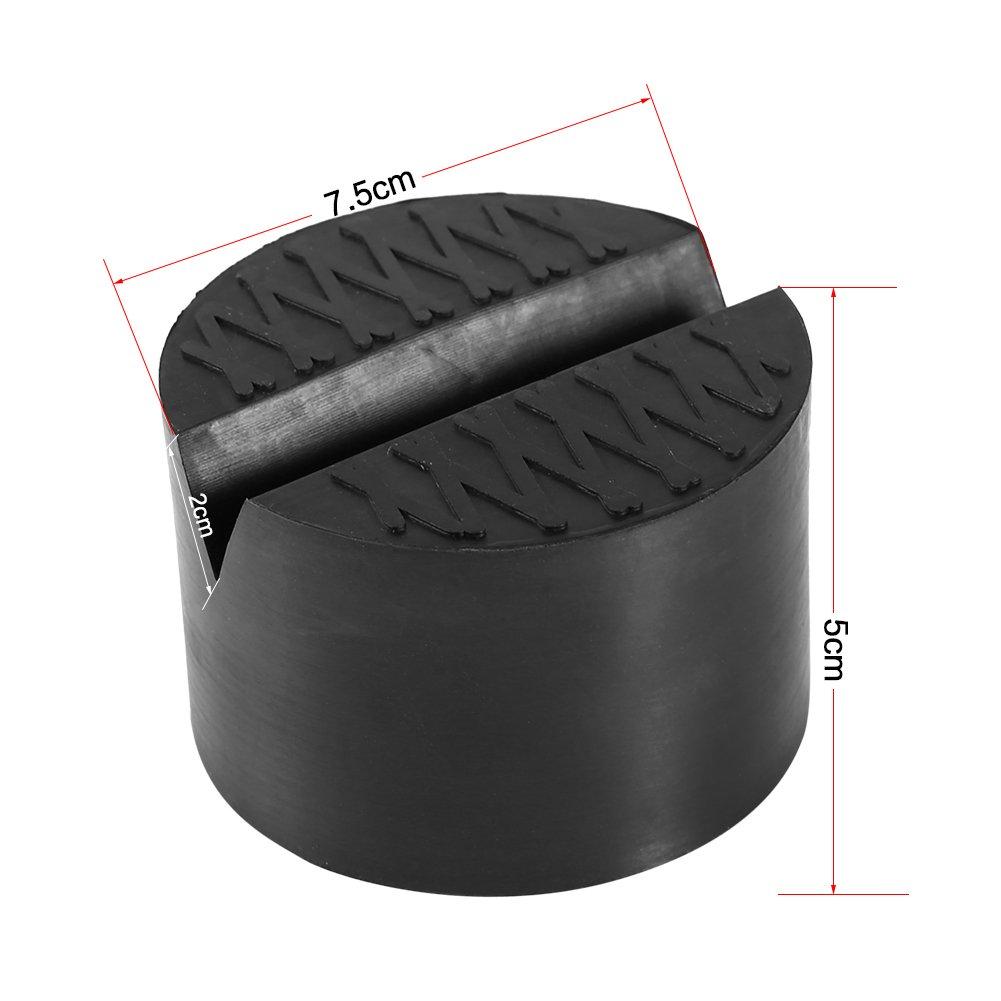Bloque de goma sello de goma para gato de elevaci/ón de coche resistente acumulaci/ón sin ab/îmer abajo de caja de la V oiture tres Talla diferentes