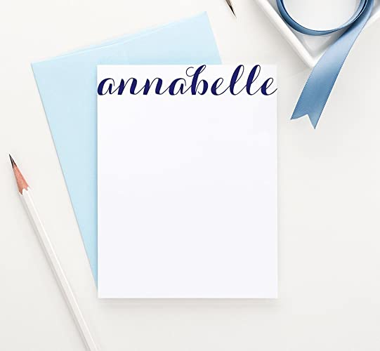 calligraphy personalized stationery set modern personalized note cards your choice of colors set - Personalized Stationery Cards