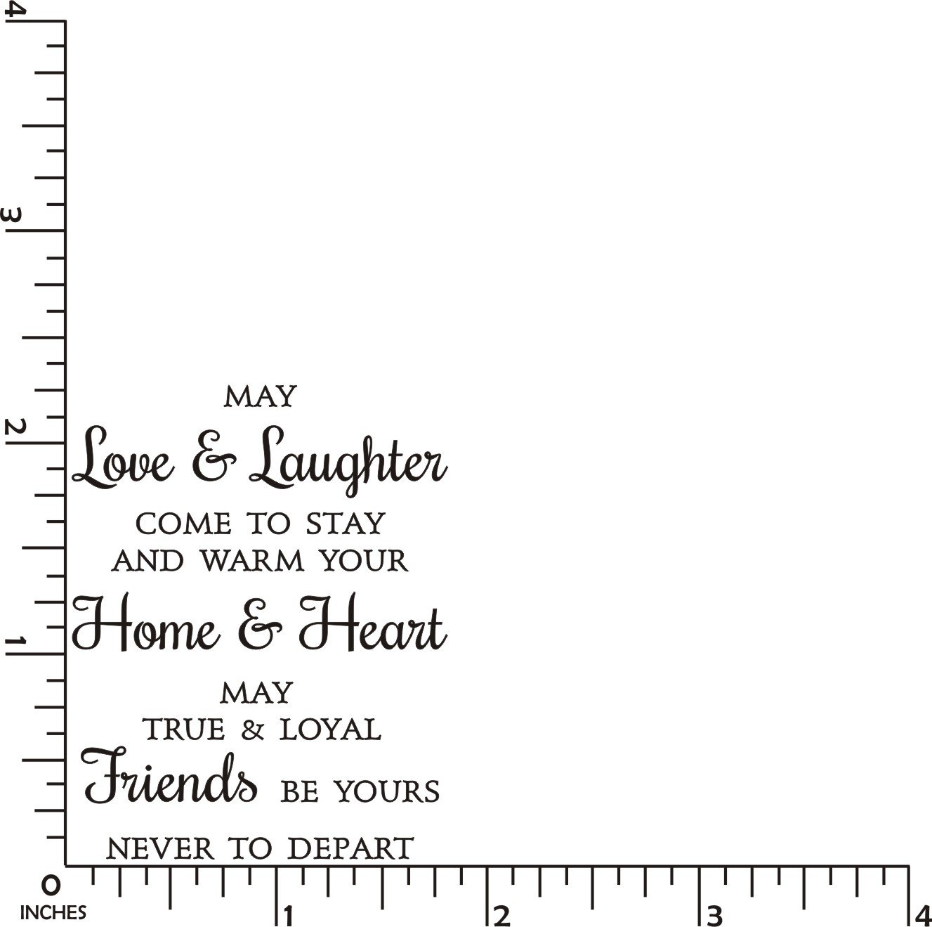 Love /& Laughter Friends Greeting Rubber Stamp by DRS Designs Rubber Stamps