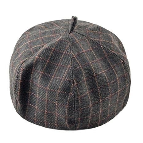 KDFLGE cappello Cappello da Donna con Cappellino da Donna Lady Elegante  retrò Moda Casual Baker Boy de54fddb62f2