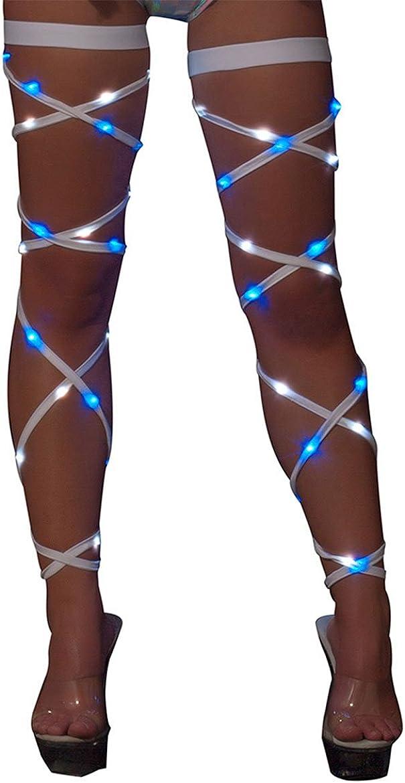 J. Valentine Women's Light-up Leg Wraps, Green/Blue, One Size: Clothing