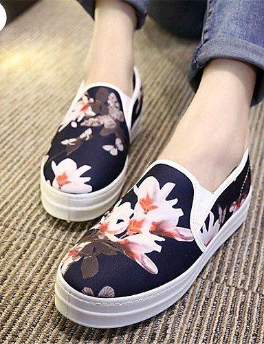 ZQ gyht Zapatos de mujer-Plataforma-Comfort-Mocasines-Exterior / Casual-Tela-Negro / Blanco , white-us8 / eu39 / uk6 / cn39 , white-us8 / eu39 / uk6 / cn39 white-us5 / eu35 / uk3 / cn34
