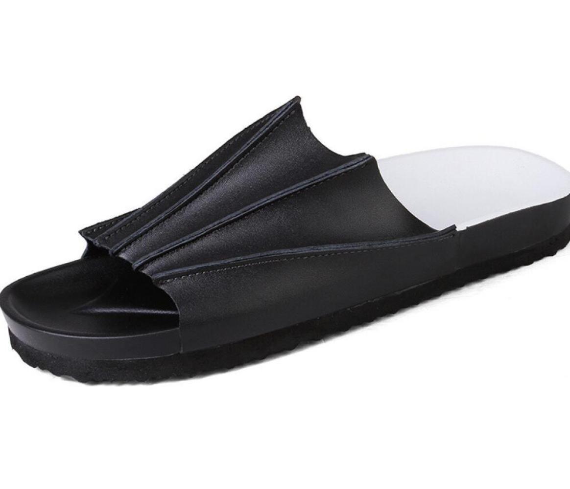 DHFUD Zapatos De Hombre Zapatillas De Verano Zapatos Casuales Sandalias De Playa 38 EU|Black