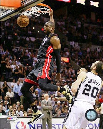 Miami Heat Photograph (2013 NBA Finals Dwayne Wade Dunk Miami Heat Glossy Photograph Photo)