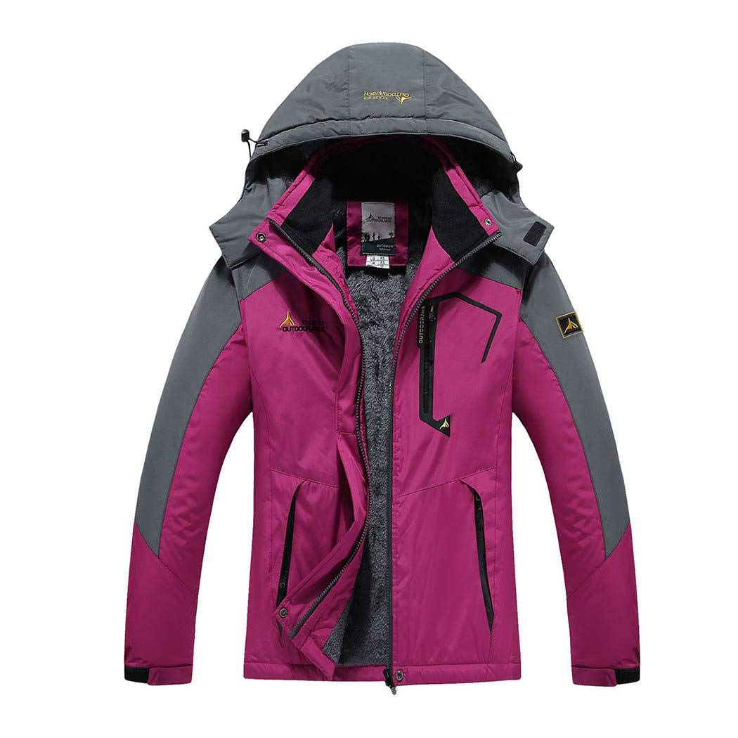 Light purple Jinymo New Fashion Women Hooded Long Sleeve Patchwork Zipper Outdoor Outwear Casual Jackets