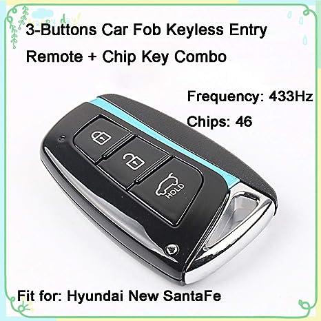 Amazon.com: 1 juego de 3 botones 433 Hz llave de coche ...