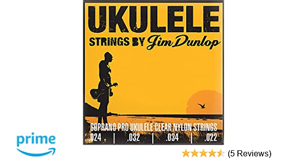 Amazon.com: Dunlop DUY301 Soprano Pro Ukulele Strings, 4 Strings/Set: Musical Instruments