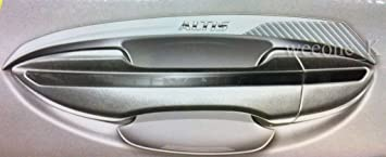REAR CHROME TAILGATE HANDLE COVER FOR TOYOTA COROLLA ALTIS 2008-2011