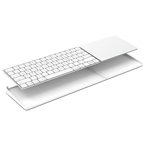 ac8651d6686 Amazon.com: Bestand Stand for Magic Trackpad 2(MJ2R2LL/A) and Apple latest  Magic Keyboard(MLA22LL/A) Apple Keyboard and Trackpad NOT Included (White):  ...