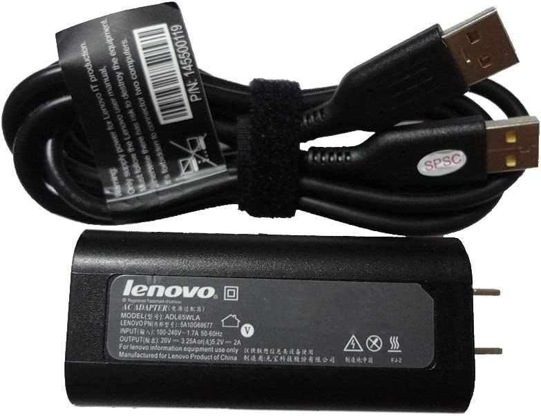 Lenovo 65W Yoga 900 Yoga 700 11 14 for Core i3 i5Yoga 3 1470 For Core i5 i7ADL65WLA20V 3 point 25A5 point 2V 2A Slim Travel Charger with Power Cable