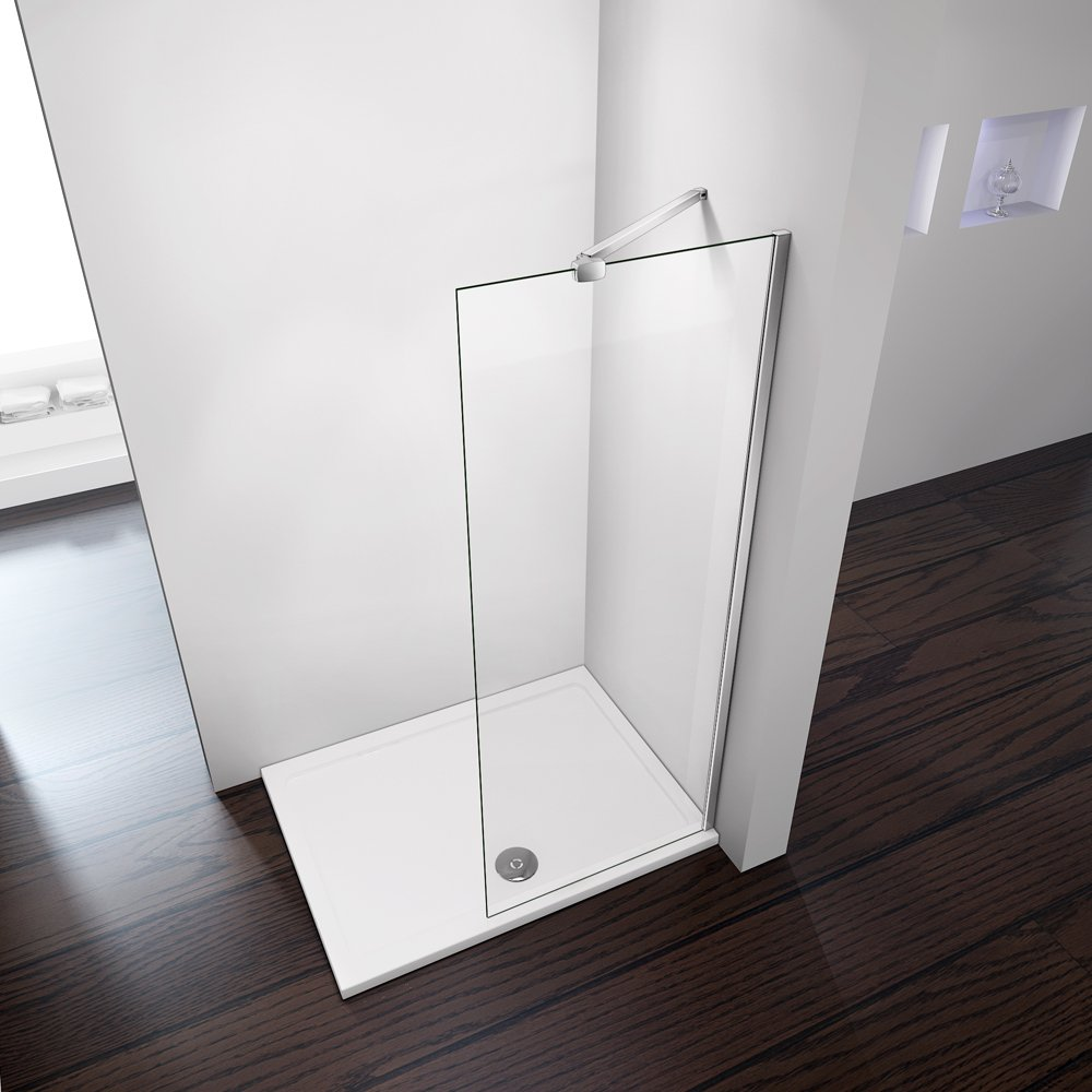 700x1850mm Height Walk In Wet Room Shower Enclosure 8mm Easyclean Glass Panel Perfect