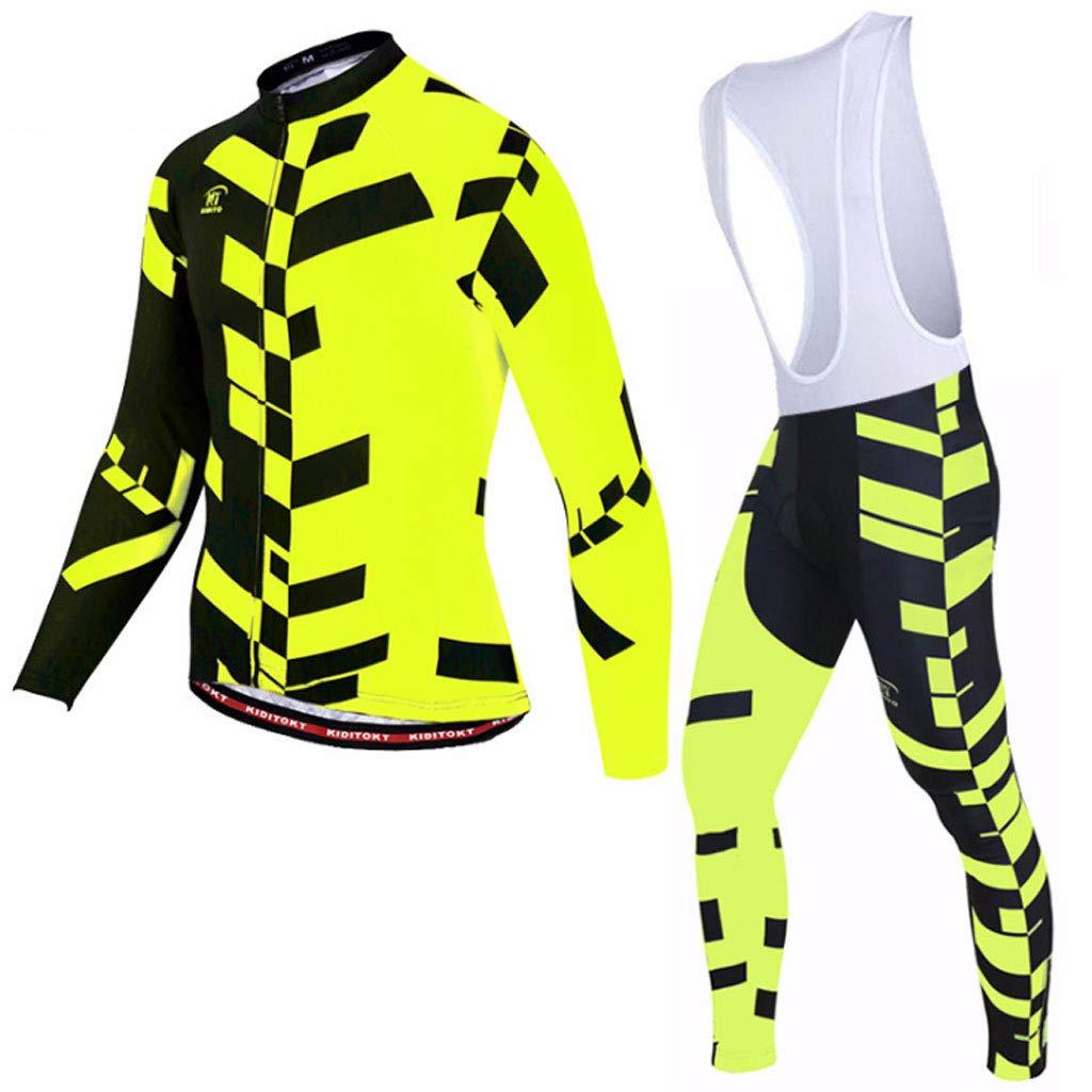 Lilongjiao Herren Langarm Radsportbekleidung Set Frühling Langarm Jersey Sling Jersey