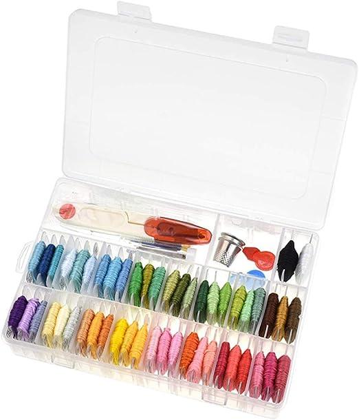 Wankd Kit de bordado para principiantes, 50 colores de hilo de ...