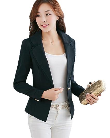 My Wonderful World Womens Lapel 1 Button Casual Short Blazer Tag Asian Small Us 0