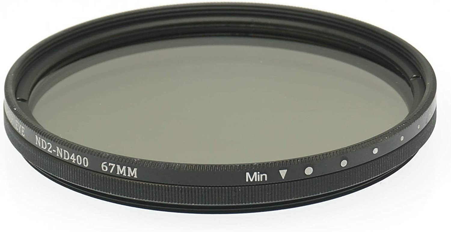 Gadget Place 67mm ND2 to ND400 Variable Neutral Density Filter for Canon EF-S 10-18mm f//4.5/¡V5.6 is STM