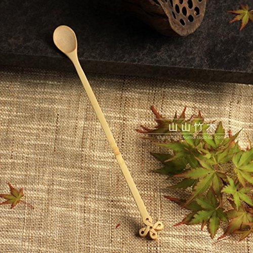 Funnytoday365 Tea Spoon Tools Vintage Long Handled Spoons Bamboo Wooden Mini Tea Spoons For Tea Party Retro Wooden Honey Stick Hand Made