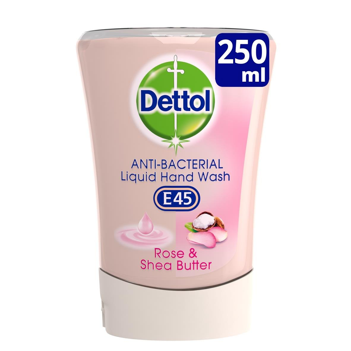 Dettol No-Touch Refill Anti-Bacterial Hand Wash, Rose and Shea Butter, 250 ml Reckitt Benckiser 106527741