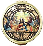 Cathedral Art SPC03 Last Supper Pyx Eucharist Container, 2-1/8-Inch