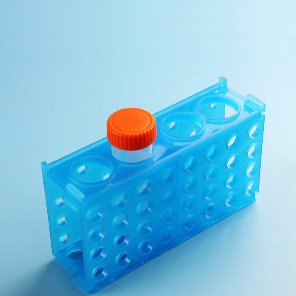 Green Pack of 3 Blue 4 Way PUL FACTORY Plastic Test Tube Rack Assorted colors Yellow