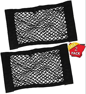 40*25cm Yizhet 2* Rete Portaoggetti Tasca Oganizer con Velcro Rete Bagagliaio Auto Telo Protettivo Portaoggetti Organizer per Bagagliaio di Tronco di Auto