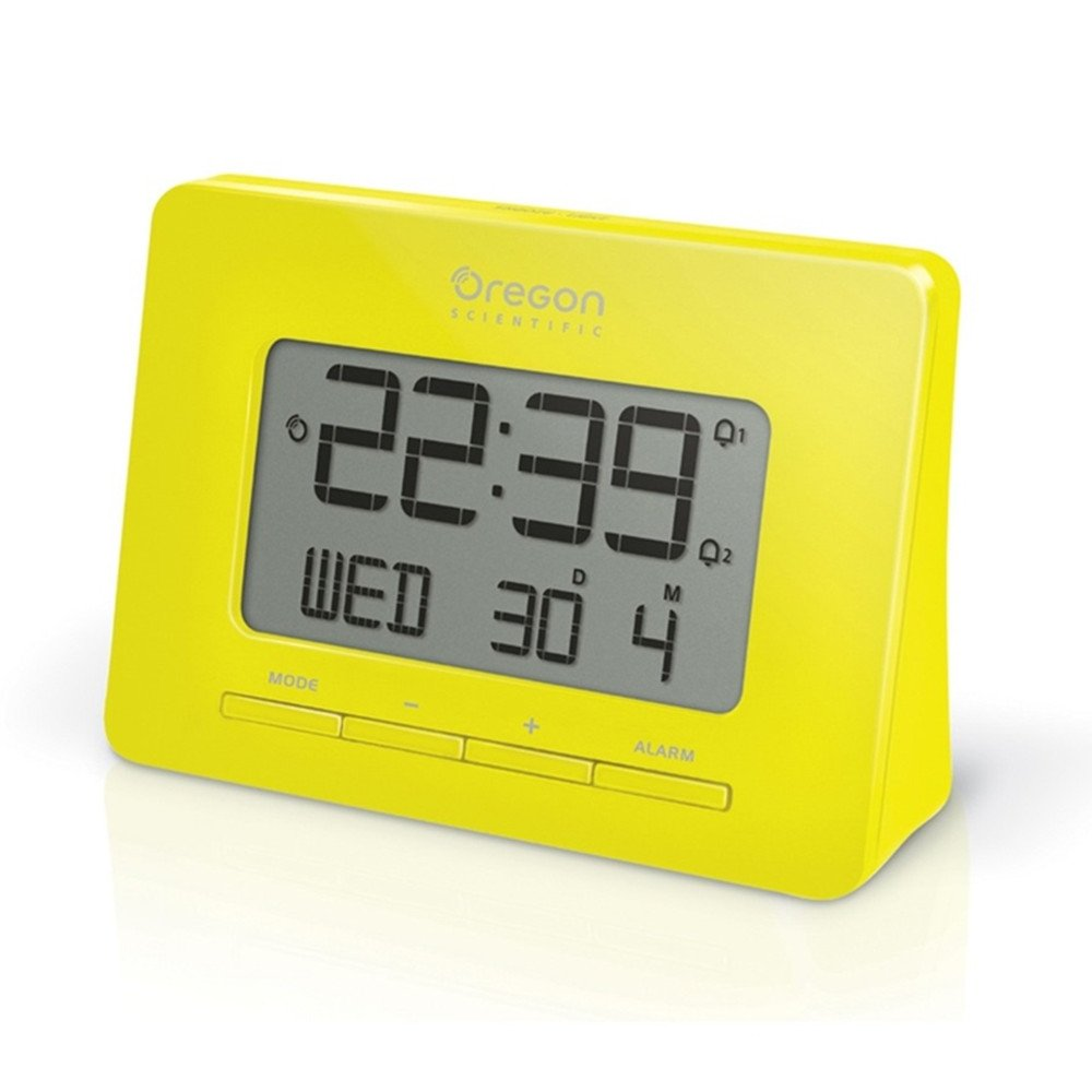 Nature Bird Oregon Scientific Stylish Retro Minimalist Design Macaron Color Radio-Controlled Alarm Atomic Clock-Yellow