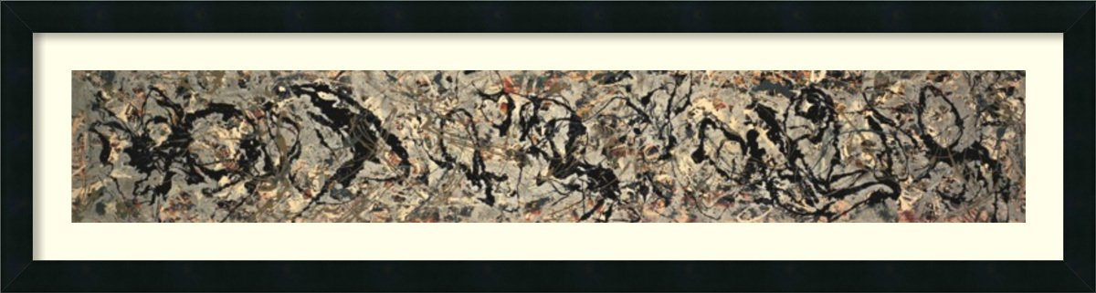 Framed Art Print, 'Number 10, 1949' by Jackson Pollock: Outer Size 42 x 11'' by Amanti Art