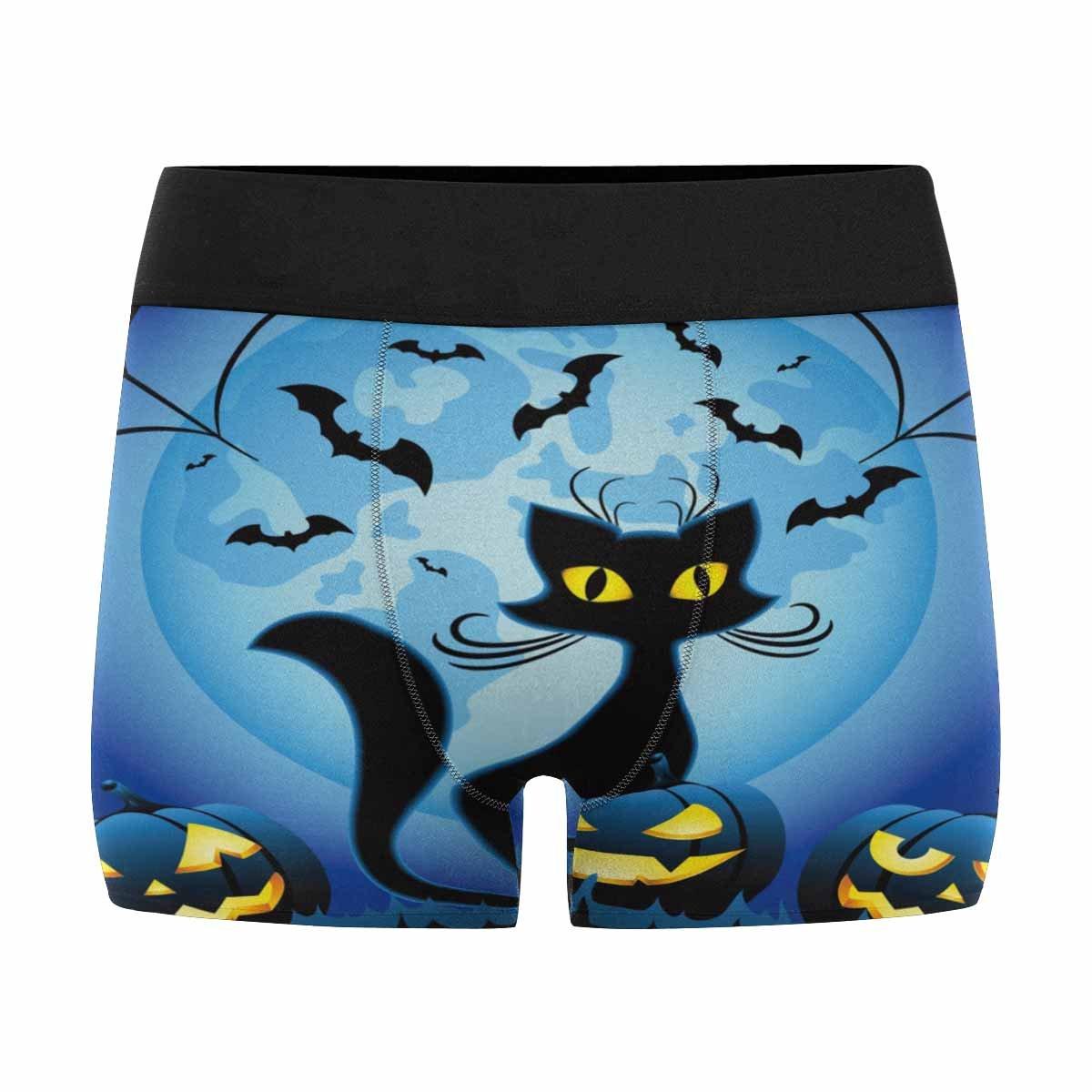 InterestPrint Soft Womens All Over Print Lightweight Briefs Panties Halloween Full Moon Pumpkin