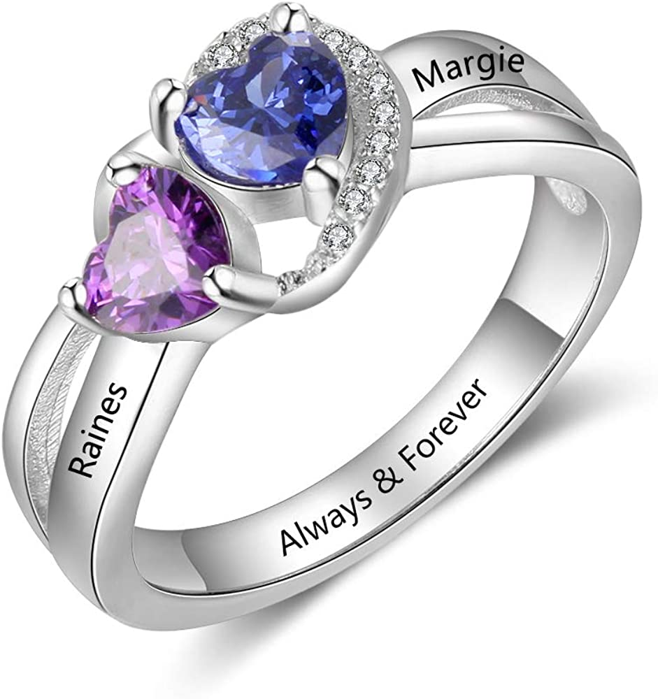 Personalized Bridesmaid Gift Personalized Jewelry Custom Birthstone Ring Gifts For Her,Rings  Gifts for Women Amethyst Ring