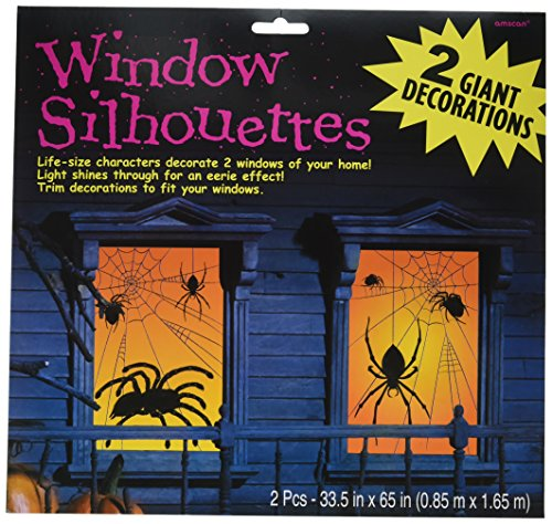 Amscan Spider Window Silhouette 65