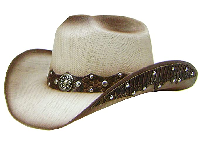 8068860161fc9a Image Unavailable. Image not available for. Colour: Modestone Straw Cowboy  Hat ...