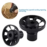 1 Pcs Black Plastic Blowing Nuts Rotary Dust Blower Fan for Small Electric Grinder