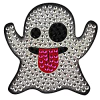 Sticker Bling Bling Gemz Crystal Rhinestone Ghost Emoji Perfect for Phone, Gear or as a Gift
