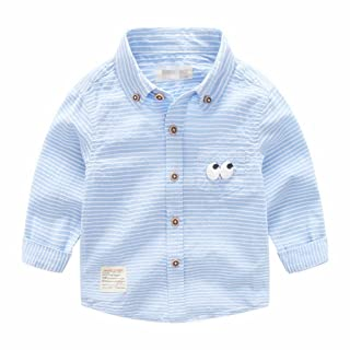 Mrsrui Toddler Baby Boys Button Down Shirt Short Long Sleeve Tops Tee Cartoon Print
