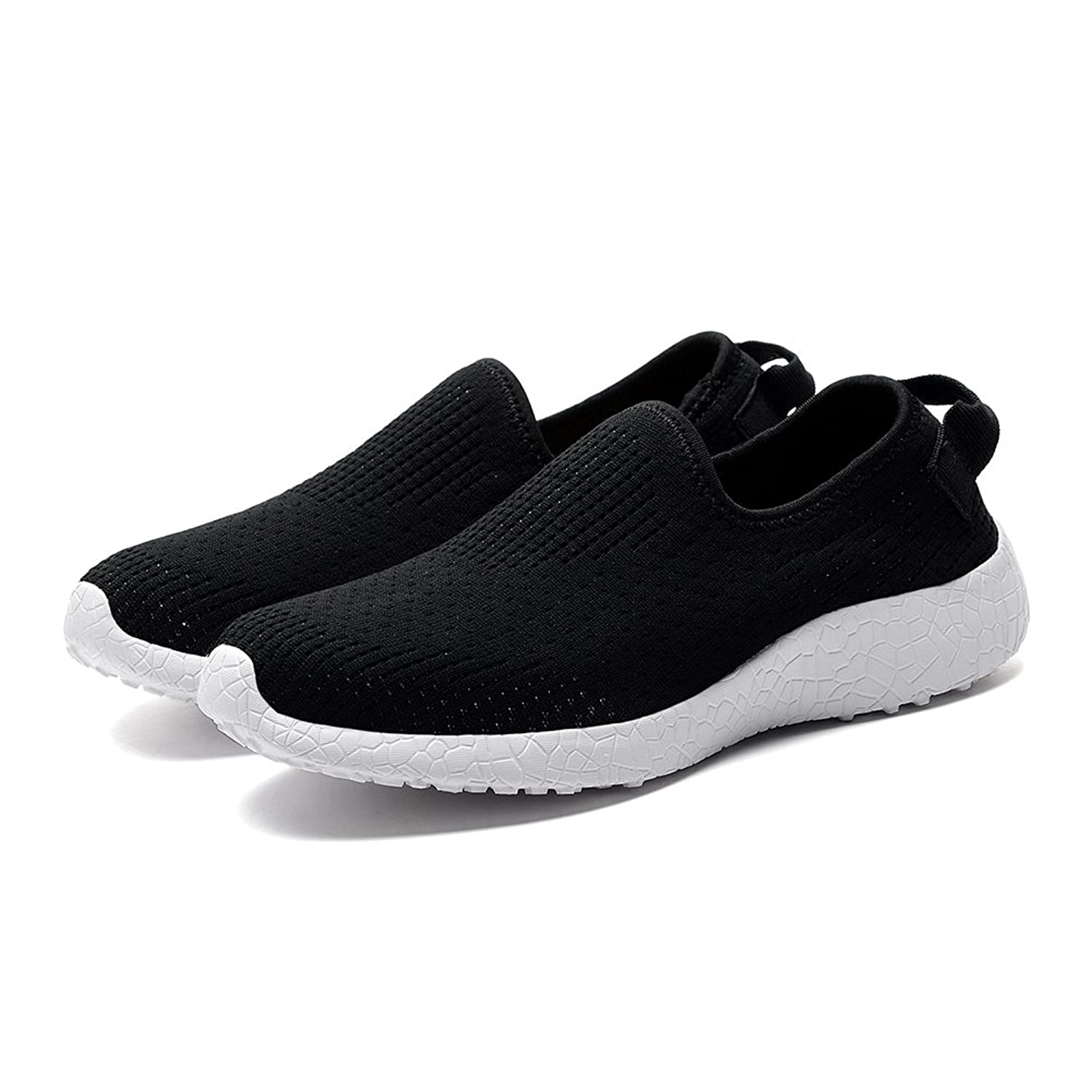 KONHILL Mens Lightweight Casual Walking Shoes Athletic Breathable Slipon Workout Sneakers  B075V1NBFF