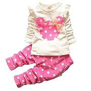 Eden Babe Baby-Girls' Rabbit Sleeve Cotton Clothes - (4-6 Months) - Pink