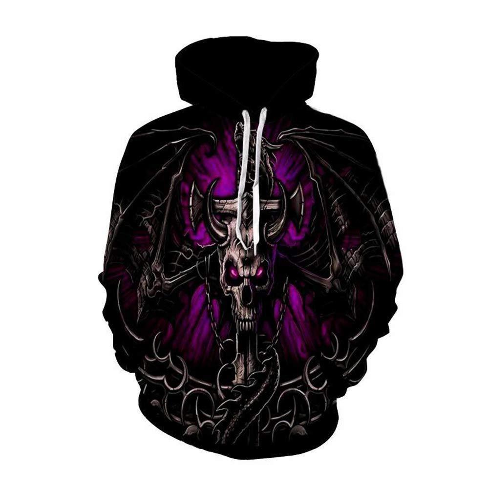 FuweiEncore Hoodies, hässliche Sweatshirts, Halloween Männer Frauen 3D Print Schädel Hoodies mit Kapuze Pullover (Farbe   1, Größe   XXXXL) (Farbe   1, Größe   XXXL)