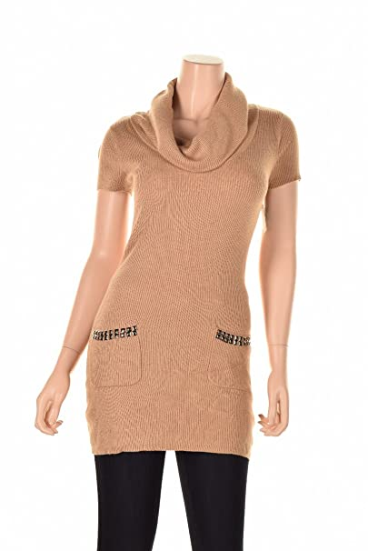 b0e2d0246e348 Image Unavailable. Image not available for. Color  INC Studded 2-Pocket  Sweater Women s Small Cowl Neck ...