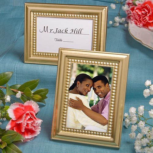 Beaded Photo (Beaded Design Gold Metal Place Card/Photo Frames)