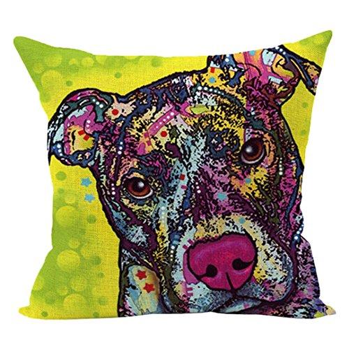 18' Tropical Decor (Cute Dog Printed Cushion Case,FimKaul Clearance 18''x18'' Square Gift Soft Sofa Bed Car Throw Home Decor Pillow Covers (M))