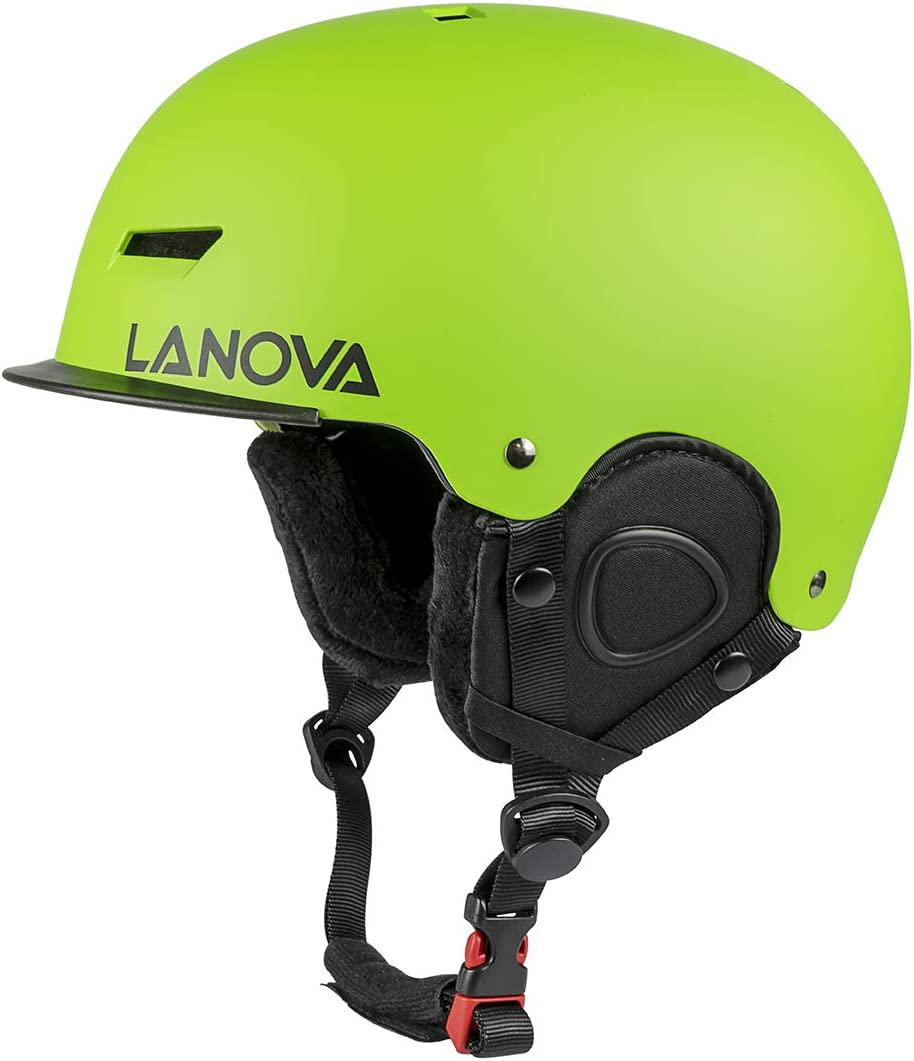 LANOVAGEAR Kids Adult Ski Snow Helmet with Mini Visor