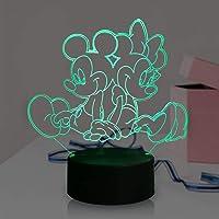 Mickey Minnie Mouse Vrienden LED Lamp 3D Cartoon voor Kid Woonkamer 7 Kleur USB Remote Change Nachtlampje Decor Home…
