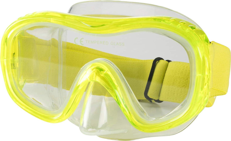 TecnoPro Unisex Tauch-Maske M5 C Taucherbrille Komfort Gelb Neu