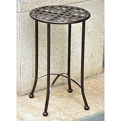 Cheap  Pemberly Row Iron Patio Side Table in Bronze