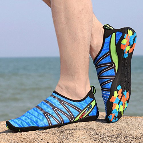 Slip Chaussette Bassin Chaussures Surf Eau 36 1 Néoprène Aqua Yoga Homme Marchant on en Chaussures 46 Pieds Chaussures Chaussures Nautique Juleya Unisexe Femme Plongée Rapide Chaussures en Nus Bleu Plage zwZB45qn