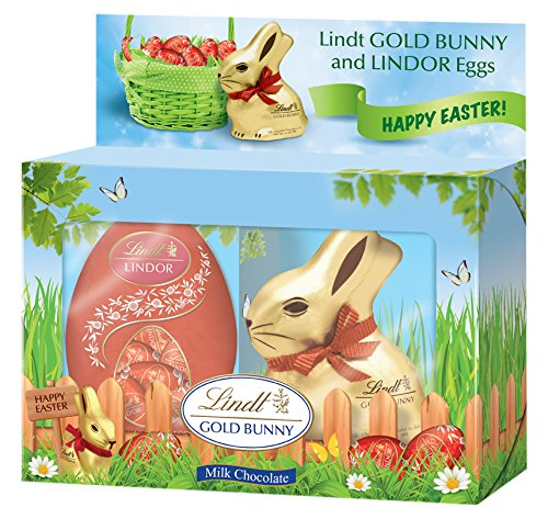 Lindor Gold Bunny with Chocolate Eggs Gift Box