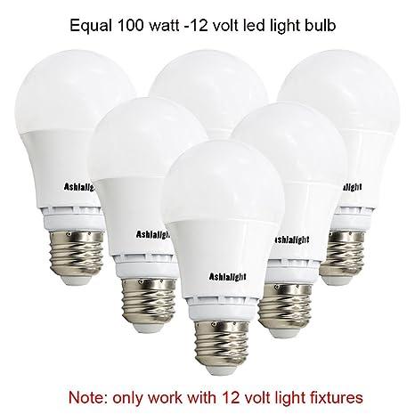 ashialight 12 volt dc light bulb led replacement 100 watt rh amazon com