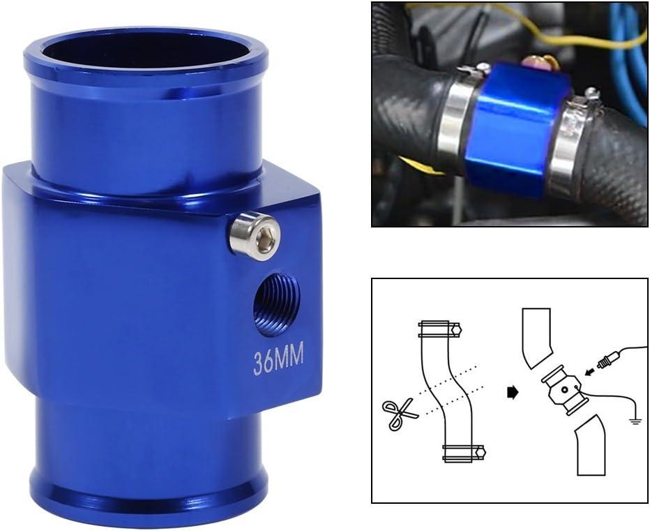 Wasser Temp Temperatur Gemeinsame Rohr Sensor Gauge Kühlerschlauch Adapter 36 Mm Blau Auto