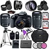 Canon EOS Rebel T7i Digital SLR Camera with Canon EF-S 18-55mm IS STM Lens + Canon EF-S 55-250mm f/4-5.6 IS STM Lens + Accessory Bundle